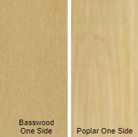 3/4 4 X 8 VC POPLAR / BASSWOOD SHOP