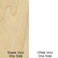 3/4 4 X 6 COMBO CORE VC MDF MAPLE PRINT / WHITE PRINT SHOP