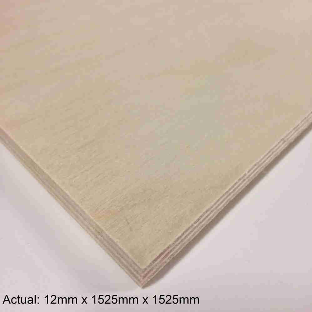 1/2 5 x 5 No Patch face UV2S  Baltic Birch (9 ply) B/BB Plywood