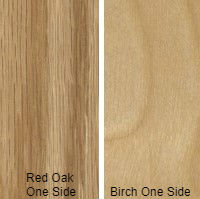 3/4 4 X 8 COMBO CORE V/C MDF RED_OAK / BIRCH SHOP