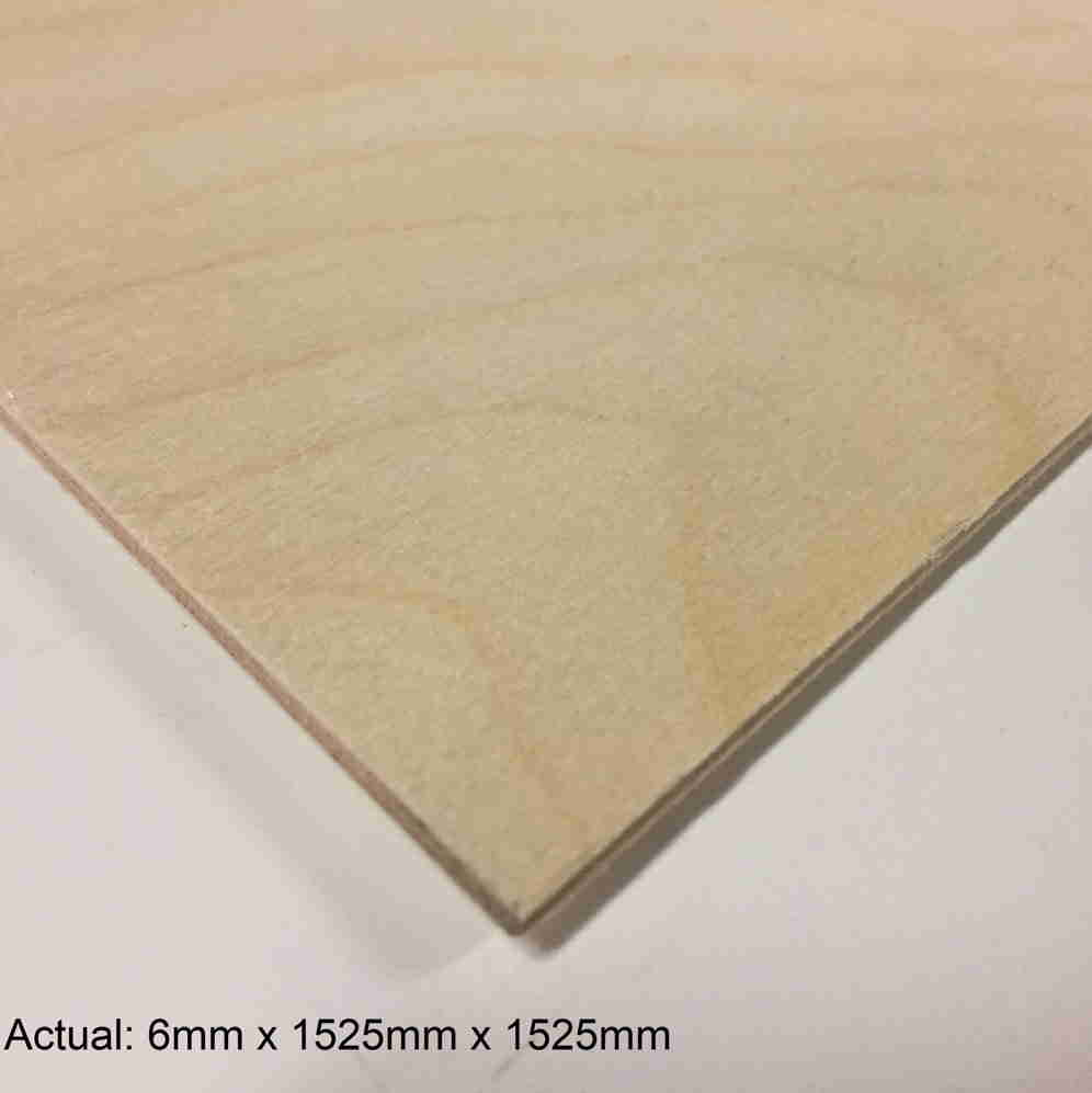 1/4 5 x 5  No Patch Face Baltic Birch (5 ply) B/BB Plywood
