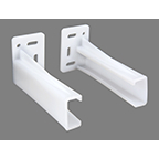 "Pair 4"" PLASTIC REAR MOUNTING BRACKET"