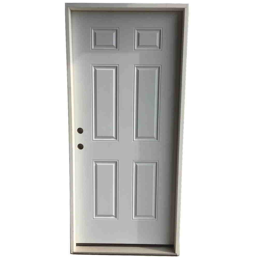 3-0 X 6-8  6 PANEL STEEL S&D RH DOOR