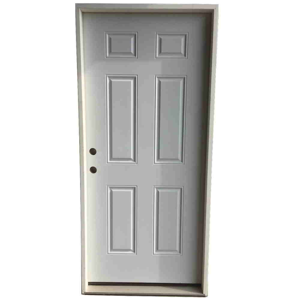 3-0 X 6-8  6 PANEL STEEL S&D RH DOOR
