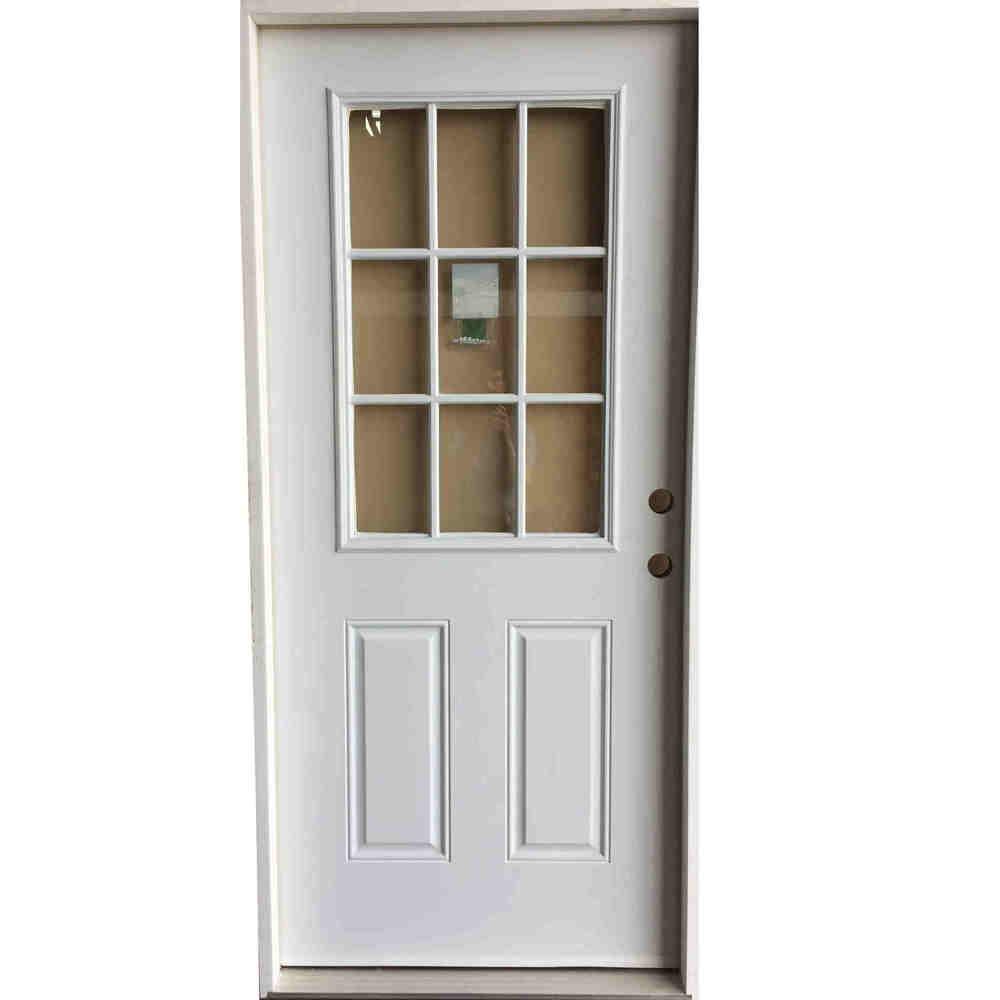 3-0 X 6-8  9 LITE STEEL S&D LH DOOR