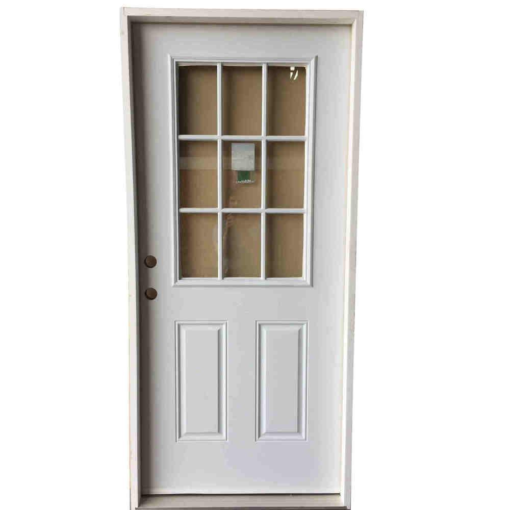 3-0 X 6-8  9 LITE STEEL S&D RH DOOR