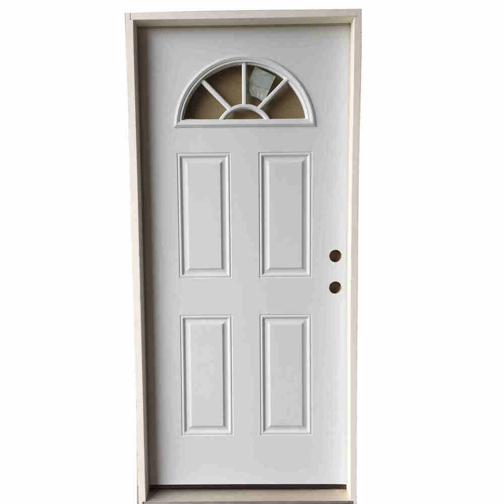 3-0 X 6-8  FAN LITE STEEL S&D LH DOOR