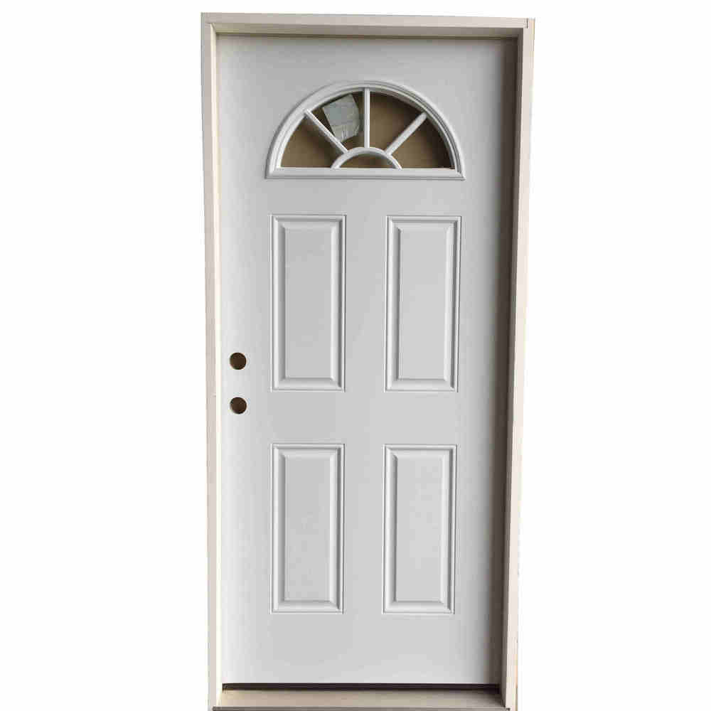 3-0 X 6-8  FAN LITE STEEL S&D RH DOOR