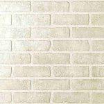 1/4 4 x 8 hardboard Close Out Brick Bianco paneling (287)
